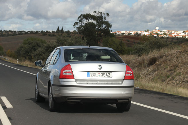 2013 Skoda Octavia Rear View