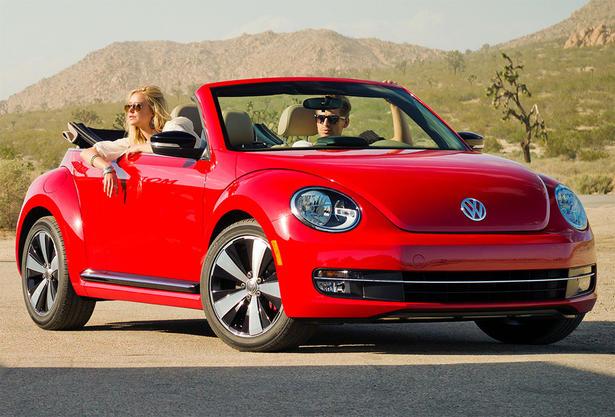 2013 Volkswagen Beetle Convertible Red