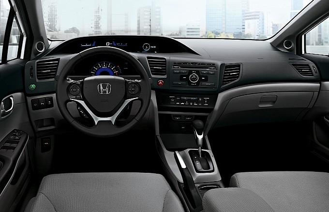 Interior View 2013 Honda Civic Sedan