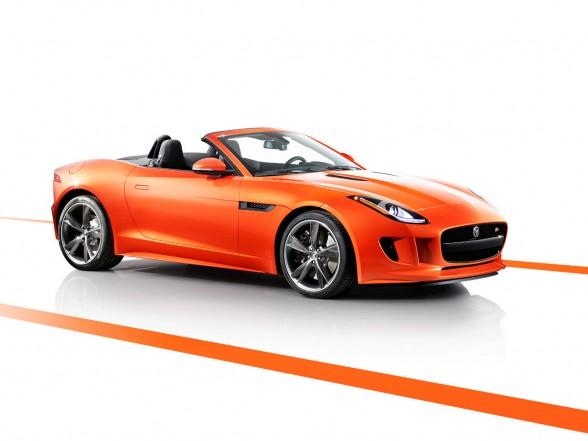 2013 Jaguar F-Type Firesand Front Angle