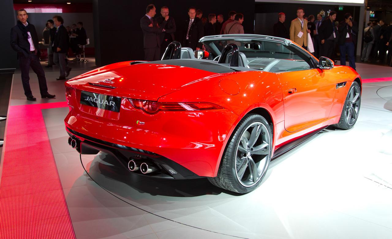 2013 Jaguar F-Type Roadster Rear Angle