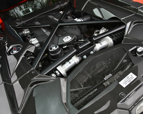 2012 Lamborghini Aventador by Vivid Racing Engine View