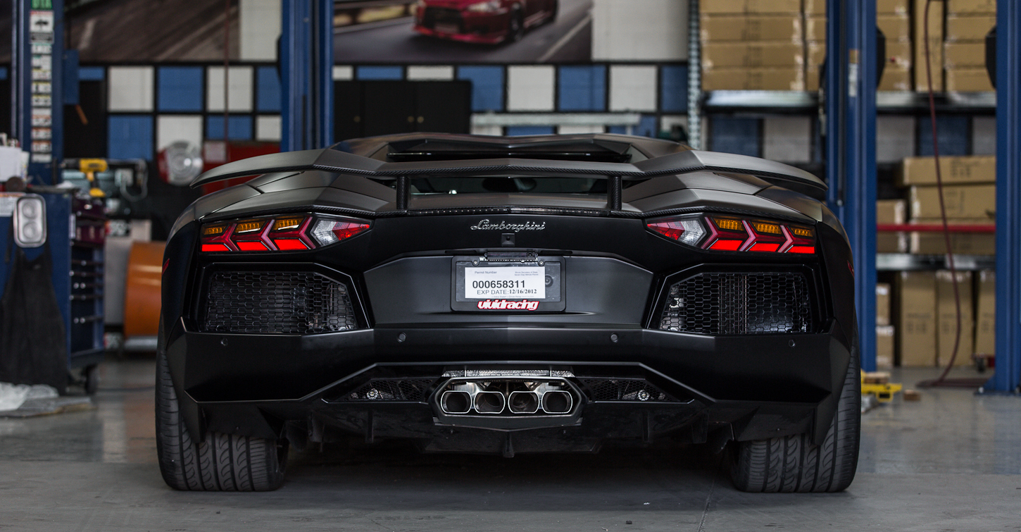 2012 Lamborghini Aventador by Vivid Racing Rear Vew