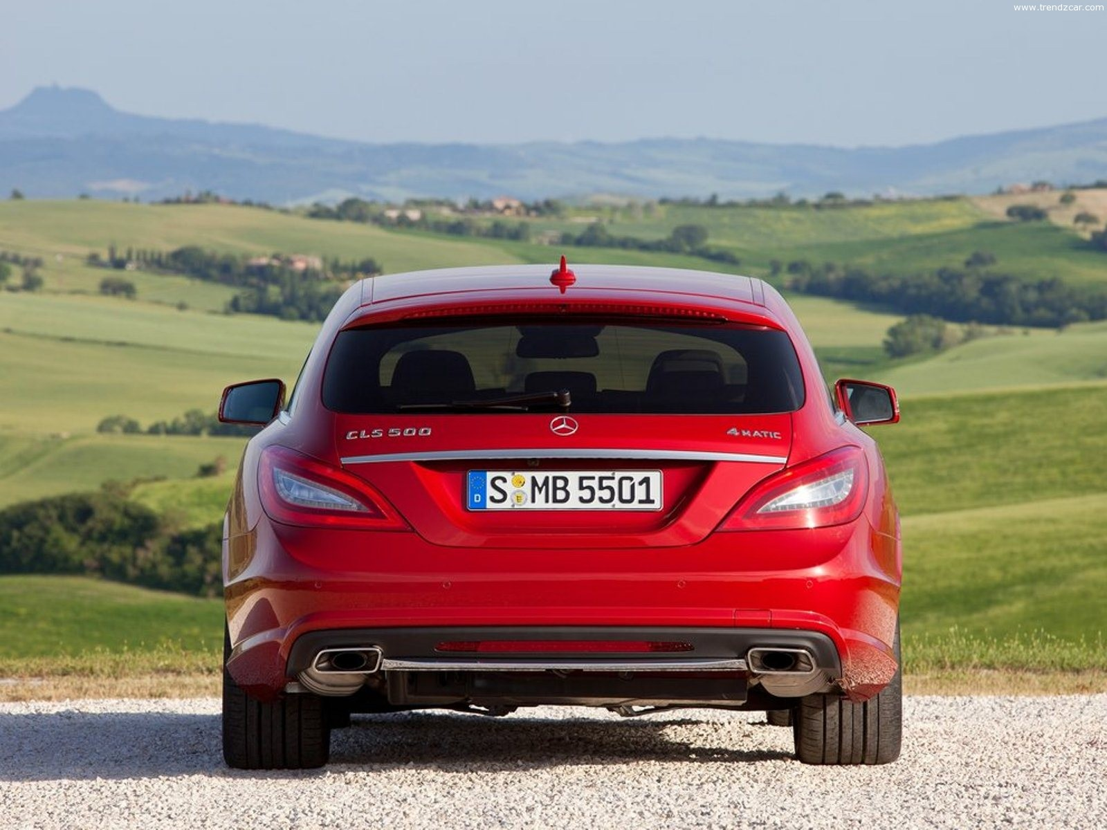 2013 Mercedes Benz CLS Shooting Brake Rear View