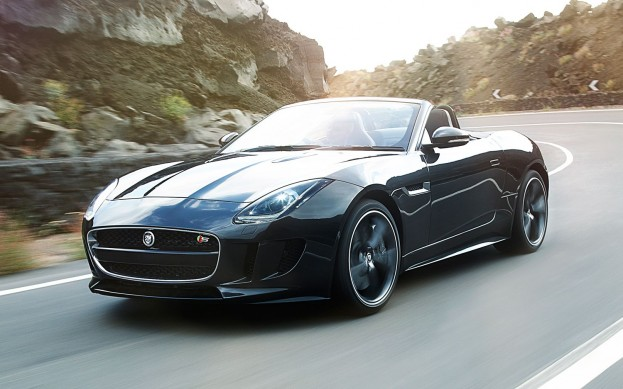 2014 Jaguar F-Type front view on Road