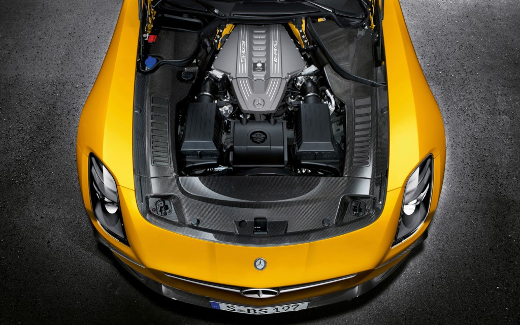 2014 Mercedes Benz SLS AMG Black Series engine
