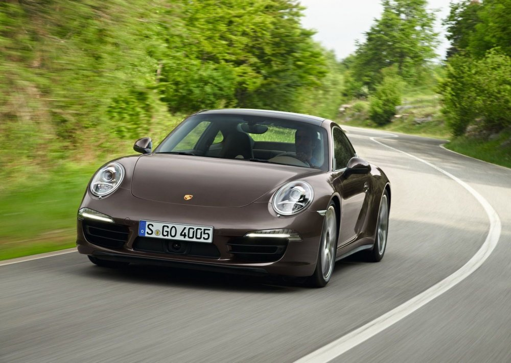 2013 Porsche 911 Coupe on the Road